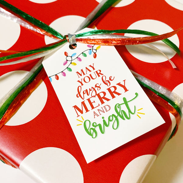 Merry and Bright Gift Tags