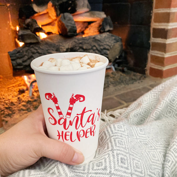 Santa's Helper Coffee To Go Cups