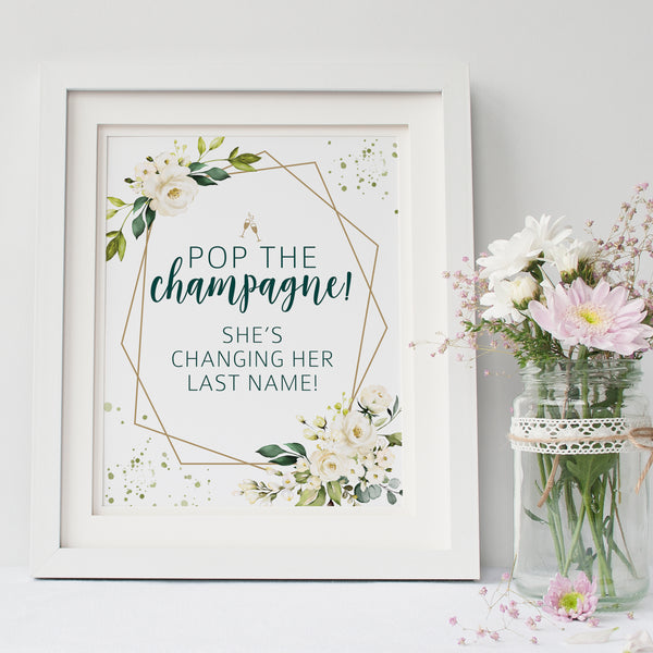 Pop The Champagne Sign