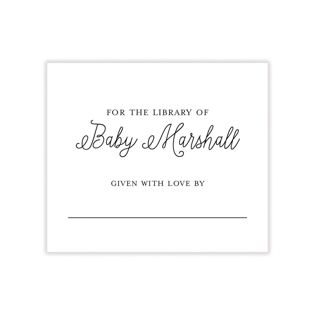 Baby Bookplate Stickers
