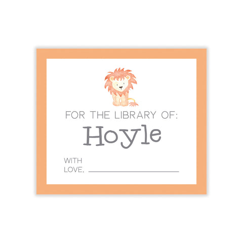 Lion Bookplate Sticker