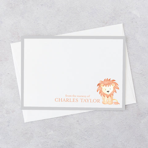 Lion Nursery Notecards