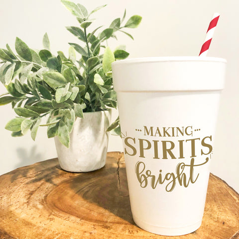 Making Spirits Bright Party Cups