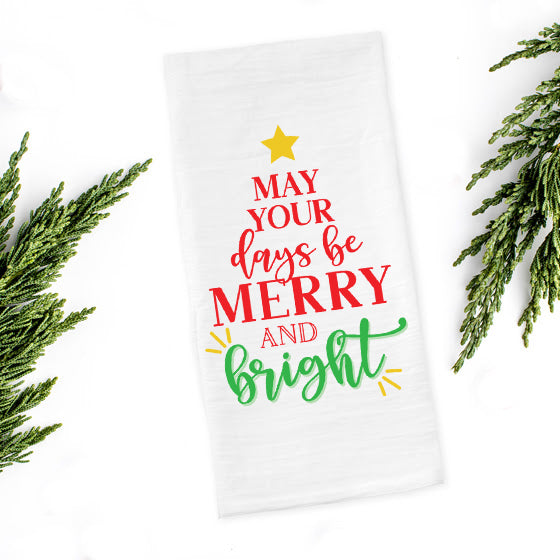 Merry & Bright Tea Towel