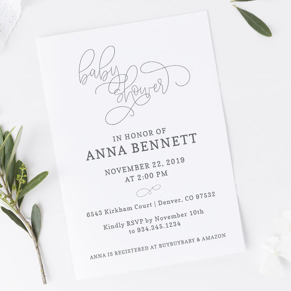 Neutral Baby Shower Invitation