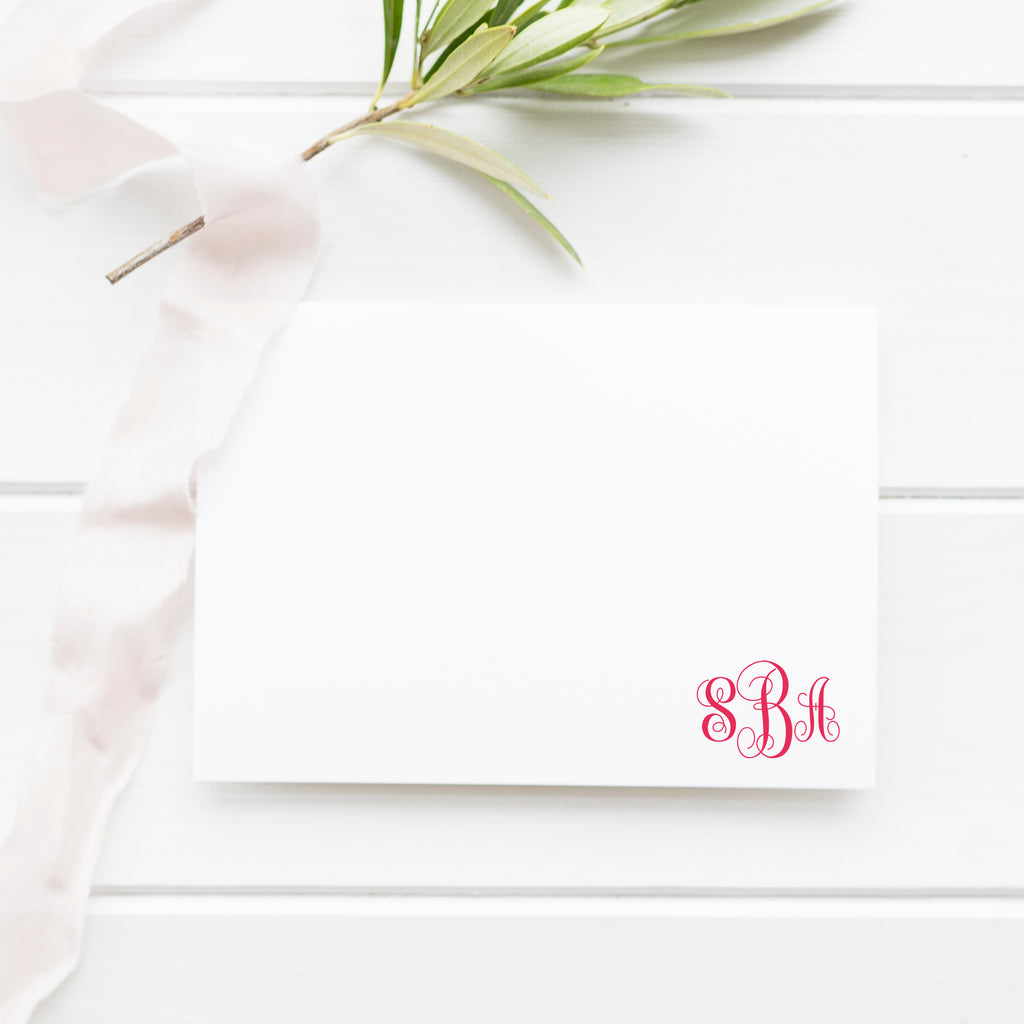 Monogram Enclosure Card