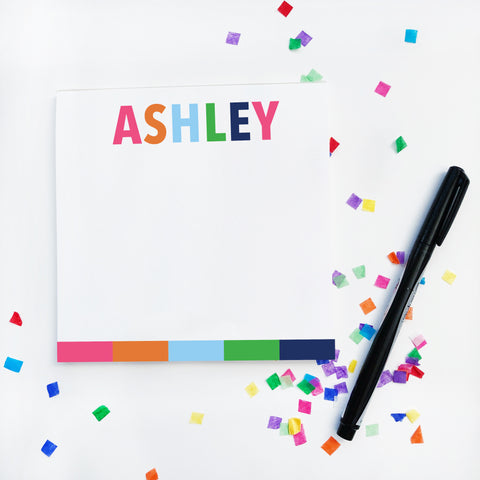 Multicolor Name Notepad