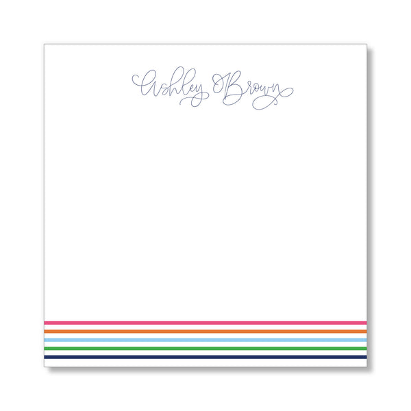 Striped Notepad