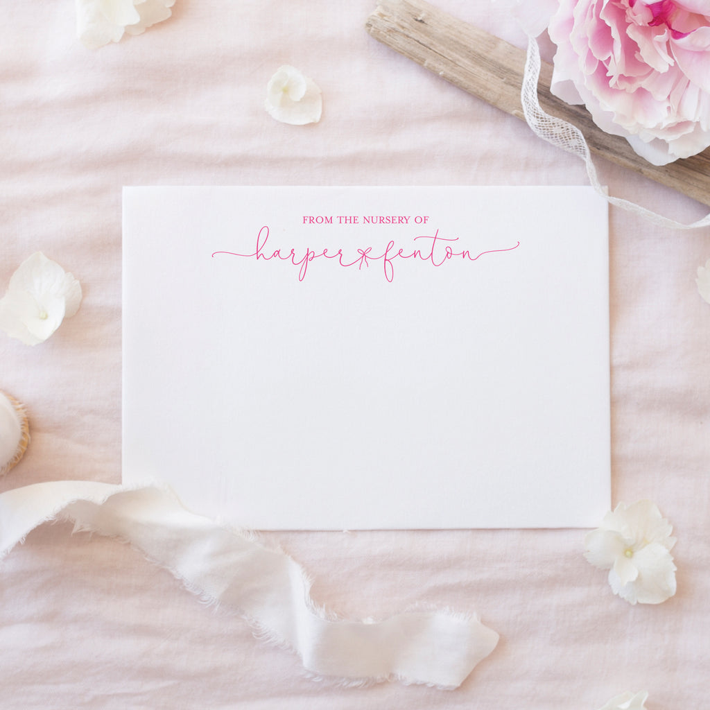 Dainty Bow Notecards