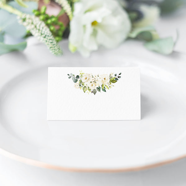 Gold Floral Place Cards