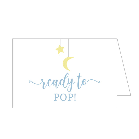 "Stars & Moon ""Ready to Pop"" Sign"