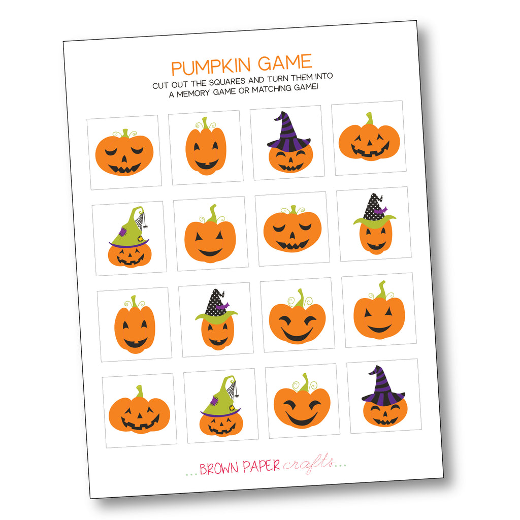 FREE Pumpkin Game