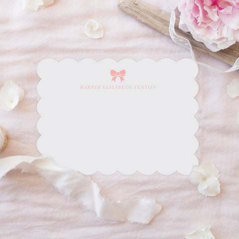 Baby Girl Bow Stationery