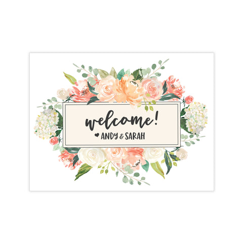 Floral Welcome Stickers
