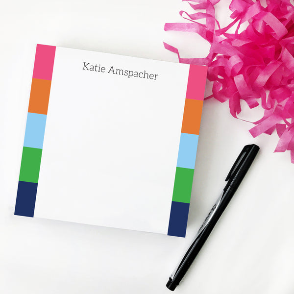Preppy Stripe Notepad