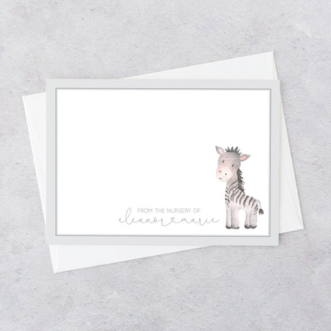 Zebra Notecards