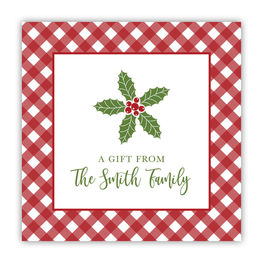 Holly & Gingham Stickers