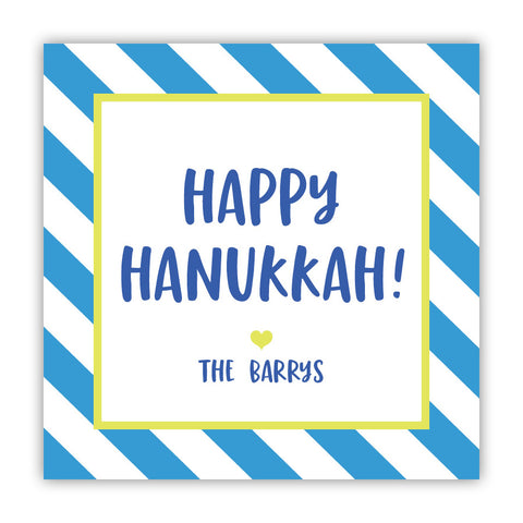 Hanukkah Stripe Stickers