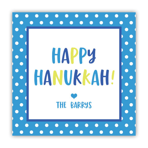 Polka Dot Hanukkah Stickers