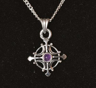 Cross with Stone Pendant - Soul Sparks