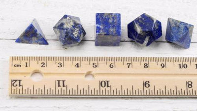 Lapis Lazuli Sacred Geometry Set with wooden box - Soul Sparks