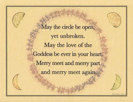 May The Circle Be Open Yet Unbroken Poster - Soul Sparks