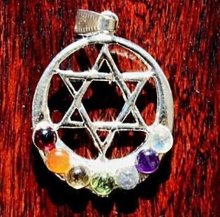 Moon and Star Chakra Pendant - Soul Sparks