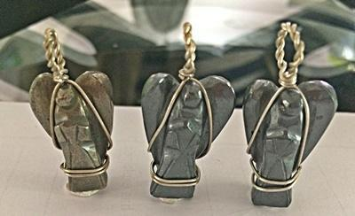 Pyrite Angel Pendants - Soul Sparks