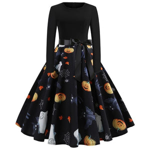 Ladies Halloween Print Dress