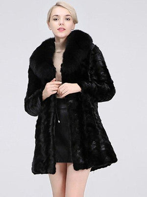 Real Mink Fur Coat Jacket