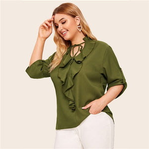 Military Green Blouse