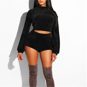Outfits Long Sleeve Knit Sweater 2 Piece Bodycon Dress