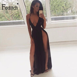 Feditch Deep V Neck Strap Backless - M A R C E I L L A