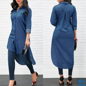 denim blouse for ladies