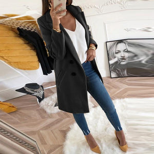 Turn-Down Collar Oversize Blazer Outwear