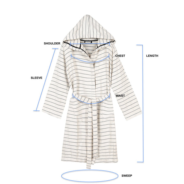 Cloud Soft Turkish Towel Robe Size Guide