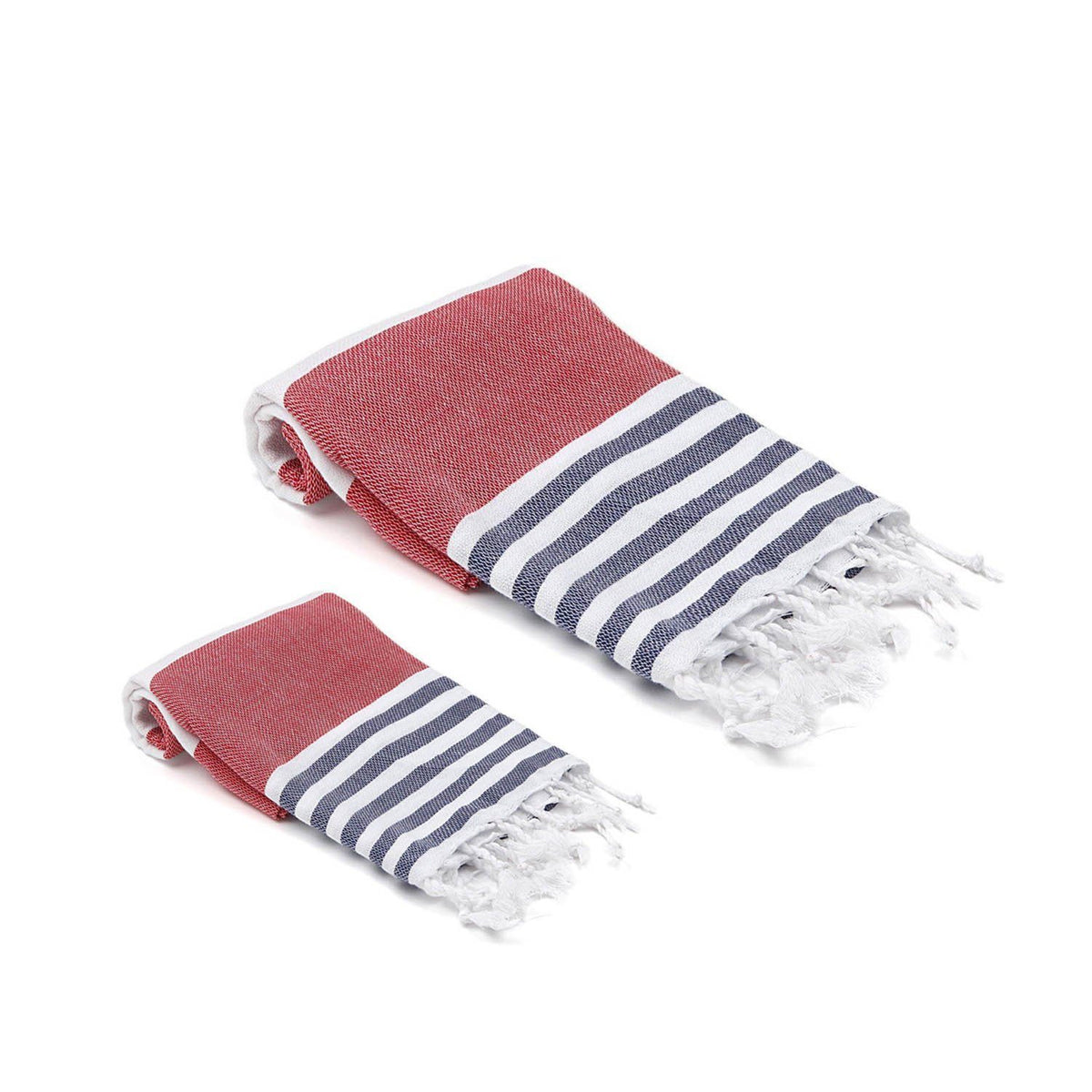 Multicolor Stripe Turkish Towel Set