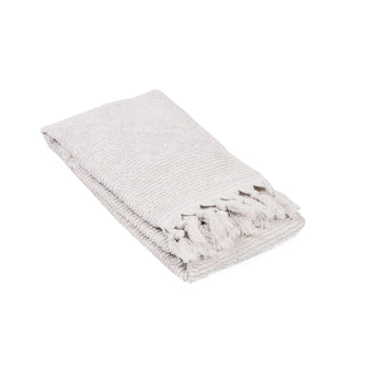 Tassel Ribbed Turkish Terry Hand Towel