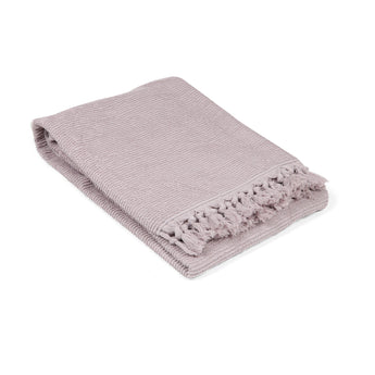 Tassel Ribbed Turkish Terry Bath Towel