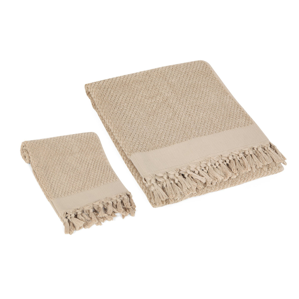 Tassel Dots Turkish Terry Towel Set