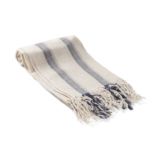 Indigo Linen Turkish Towel / Throw