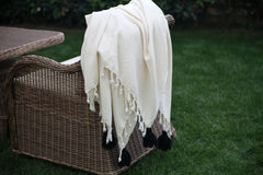Margot Ivory Tassel Throw