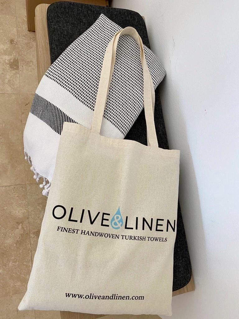 Olive and Linen Cotton Tote