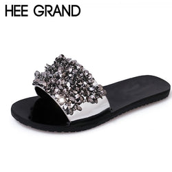 a4368064f HEE GRAND Bling Bling Summer Gladiator Sandals Sexy Beach Flat Shoes Woman