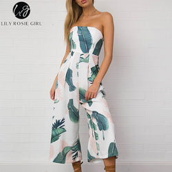 d6803447bfd6 ... sexy jumpsuit romper Summer bow sleeveless jumpsuit. Regular price   22.99 · Lily Rosie Girl Off Shoulder Navy Blue Floral Print Jumpsuit