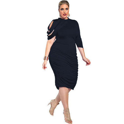 211873265 Plus Size Women Clothing New Fashion 2016 Off the Should Party ...
