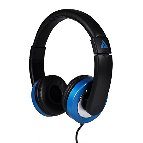 Titan On-Ear Stereo Headphones  Chrome Accents (Black/Blue)