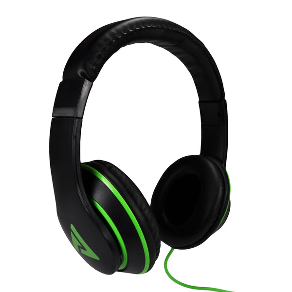 Axis Stereo Over-Ear Headphones (Black/Neon Green)