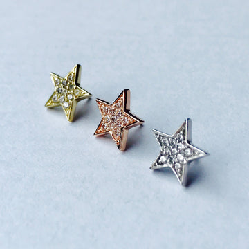 BVLA Micro Pave Star Threaded End
