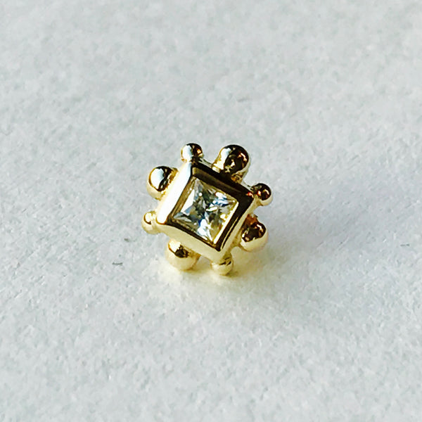 BVLA Pushpin Princess Bezel With Bead Accents End